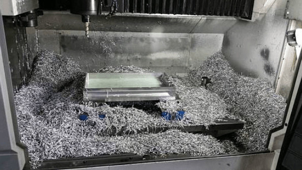 metal chips in cnc mill form chipbreaking