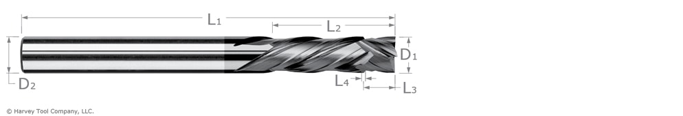 compression cutter end mill